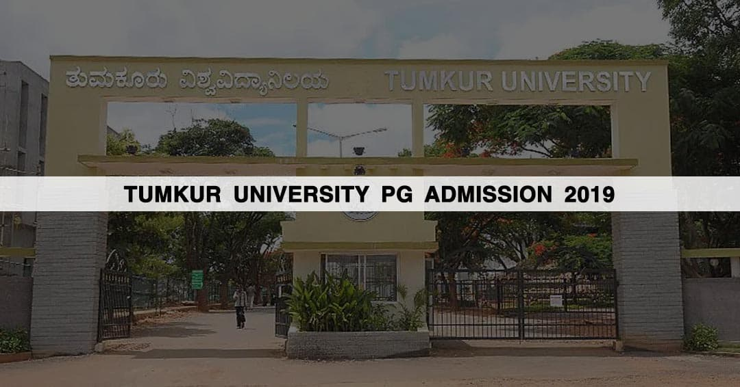 Tumkur University PG Admission 2019